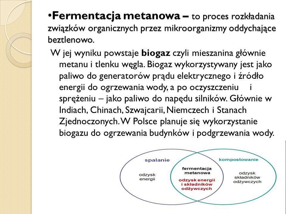 Fermentacja metanowa – to proces rozkładania związków organicznych przez mikroorganizmy oddychające beztlenowo. Fermentacja metanowa – to proces rozkł