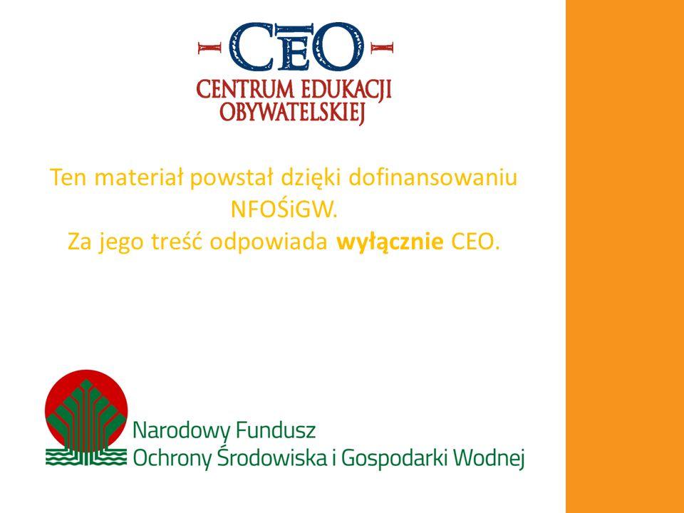 Ten materiał powstał dzięki dofinansowaniu NFOŚiGW. Za jego treść odpowiada wyłącznie CEO.