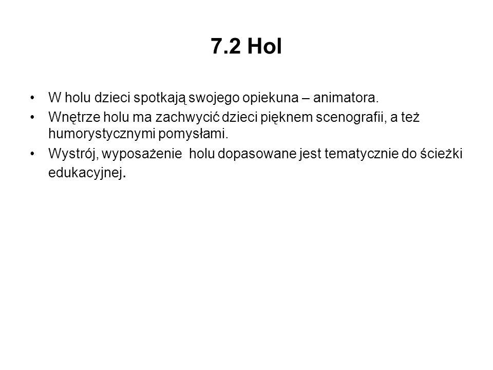 7.2 Hol W holu dzieci spotkają swojego opiekuna – animatora.