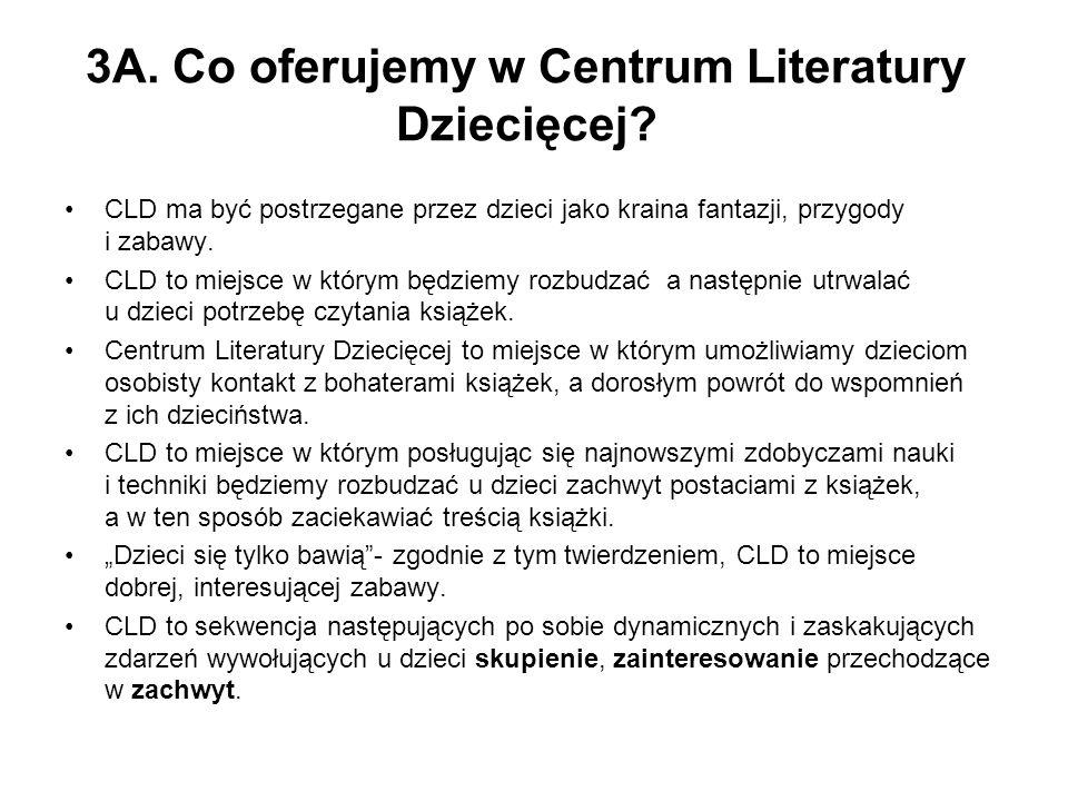 3A. Co oferujemy w Centrum Literatury Dziecięcej.