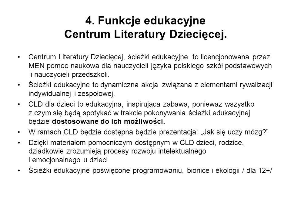 Centrum Literatury Dziecięcej, ścieżki edukacyjne to licencjonowana przez MEN pomoc naukowa dla nauczycieli języka polskiego szkół podstawowych i nauczycieli przedszkoli.