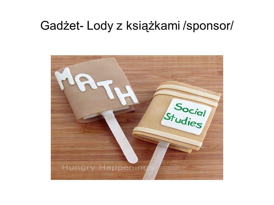 Gadżet- Lody z książkami /sponsor/