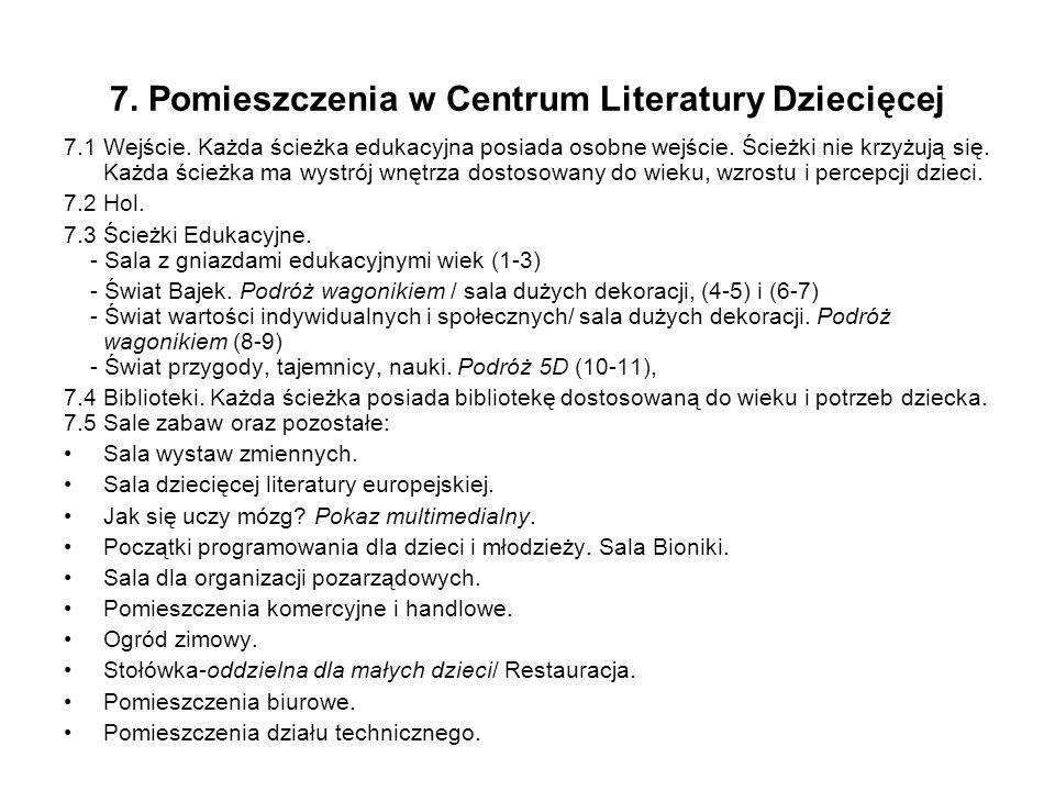 7. Pomieszczenia w Centrum Literatury Dziecięcej 7.1 Wejście.