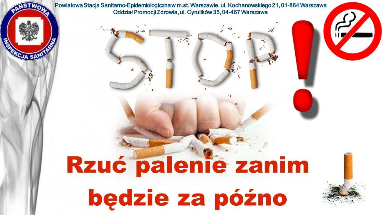 Zapach… Najlepsze perfumy nie ukryją zapachu tytoniu.