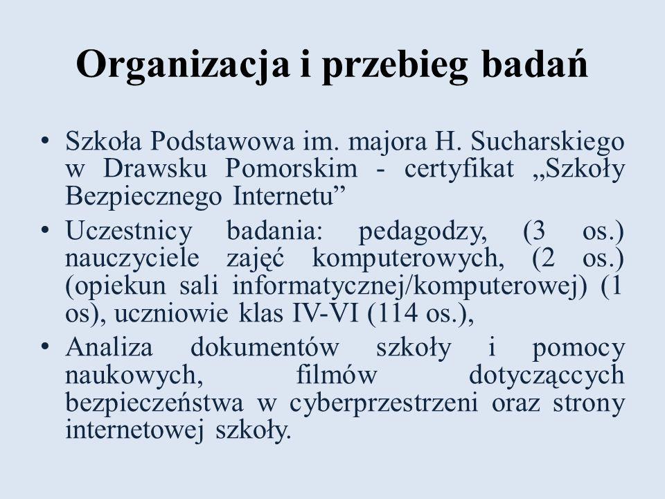 Organizacja i przebieg badań Szkoła Podstawowa im.