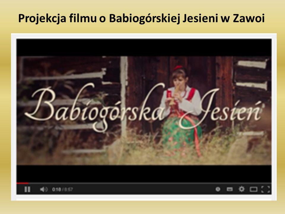 Projekcja filmu o Babiogórskiej Jesieni w Zawoi