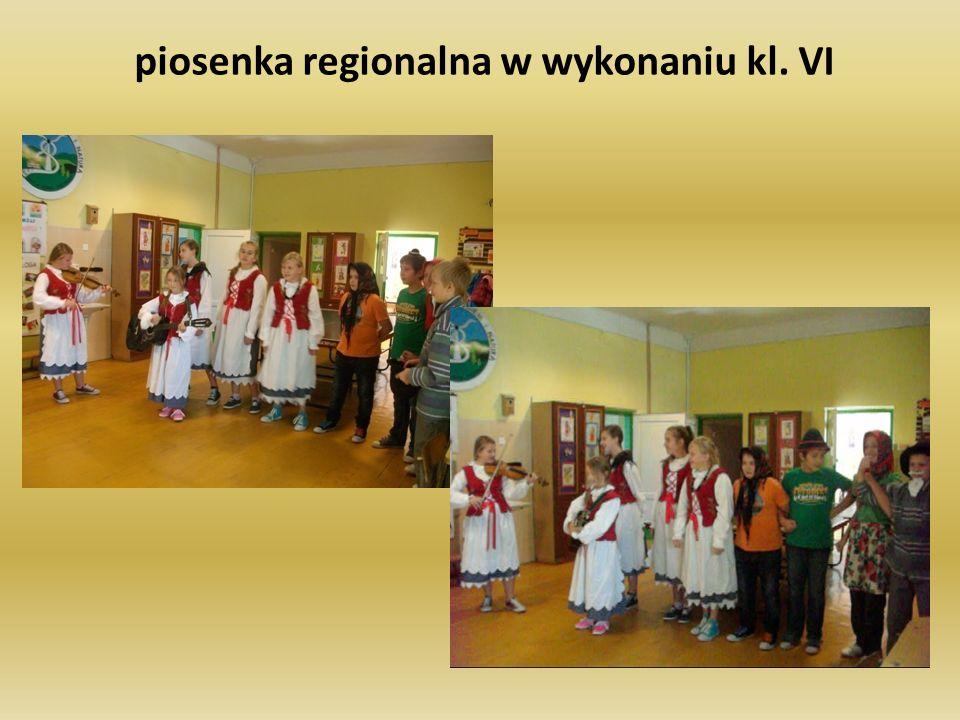 piosenka regionalna w wykonaniu kl. VI