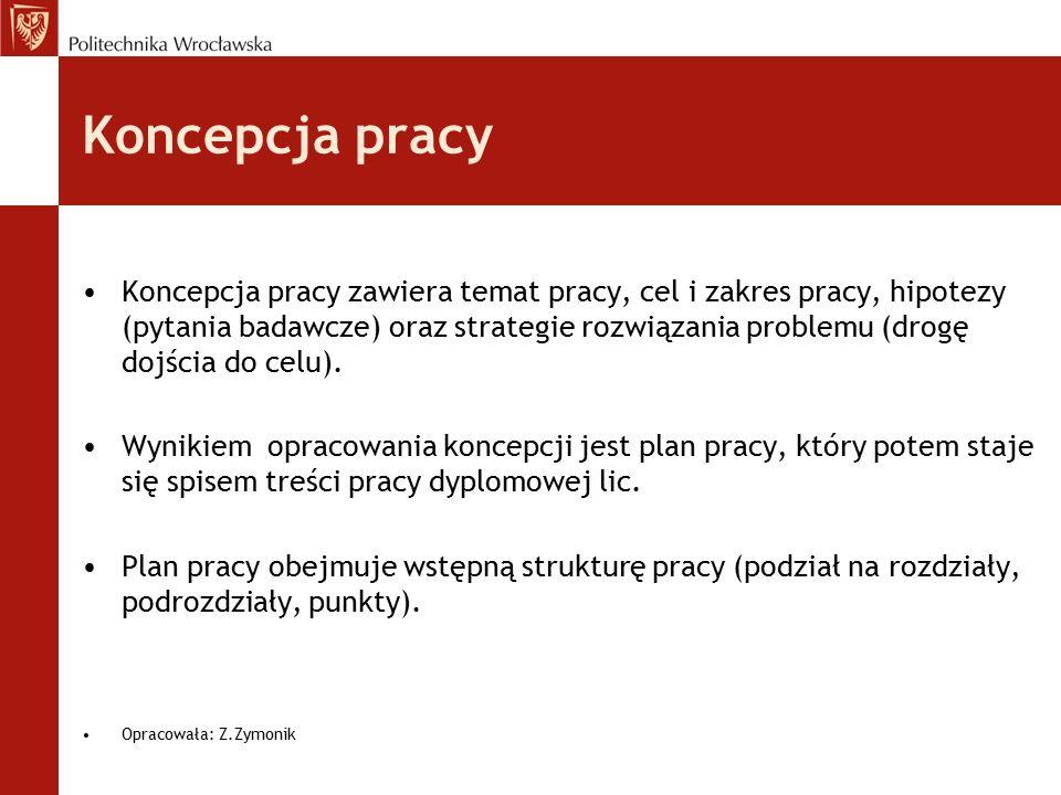 Układ pracy (Spis treści) Streszczenie Wstęp Rozdział 1…..
