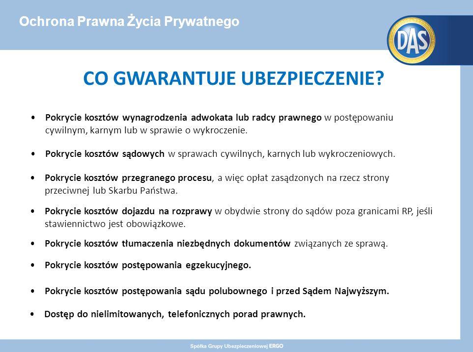 Ochrona Prawna Życia Prywatnego CO GWARANTUJE UBEZPIECZENIE.