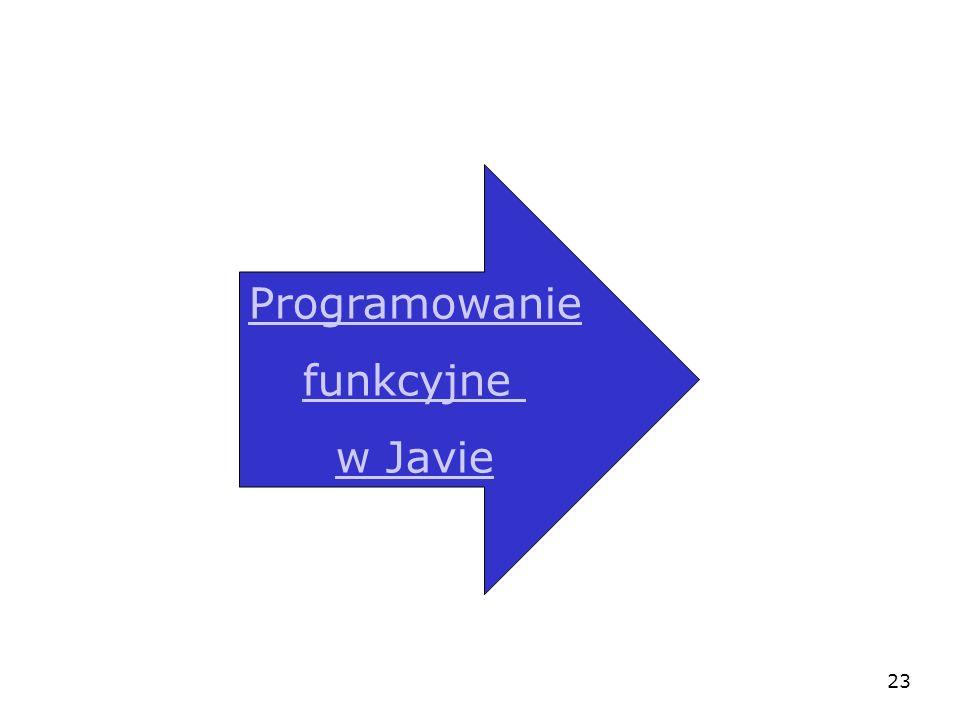 23 Programowanie funkcyjne w Javie
