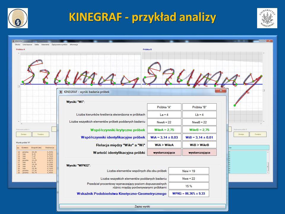 KINEGRAF - przykład analizy