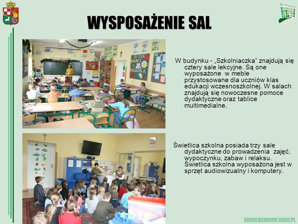 """WYSPOSAŻENIE SAL W budynku - """"Szkolniaczka znajdują się cztery sale lekcyjne."""