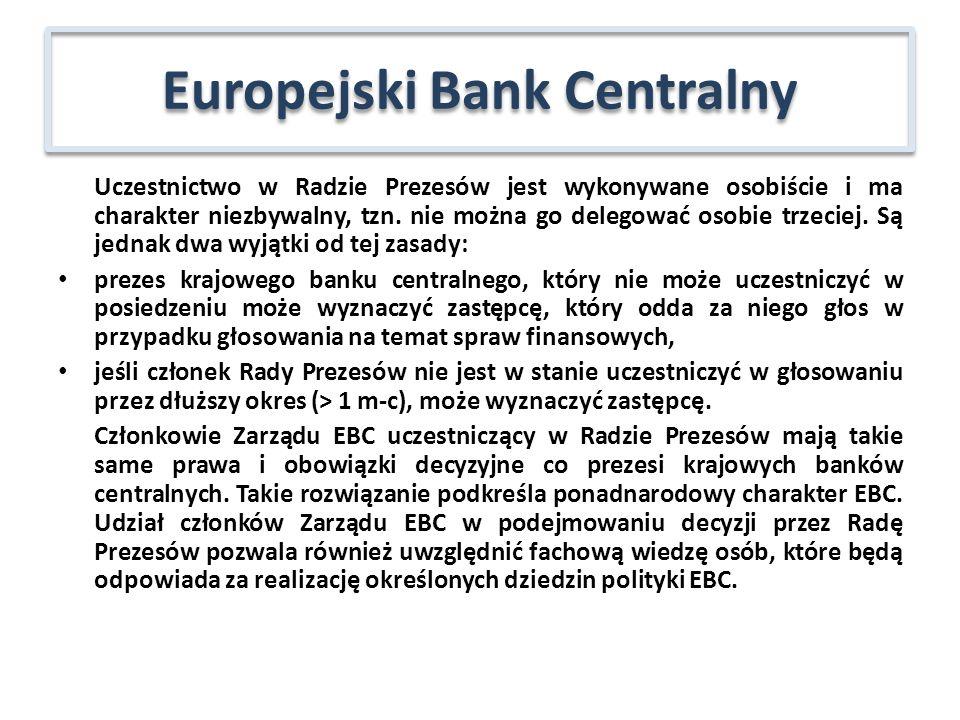 Niezależność osobista – dla członków organów decyzyjnych EBC min.