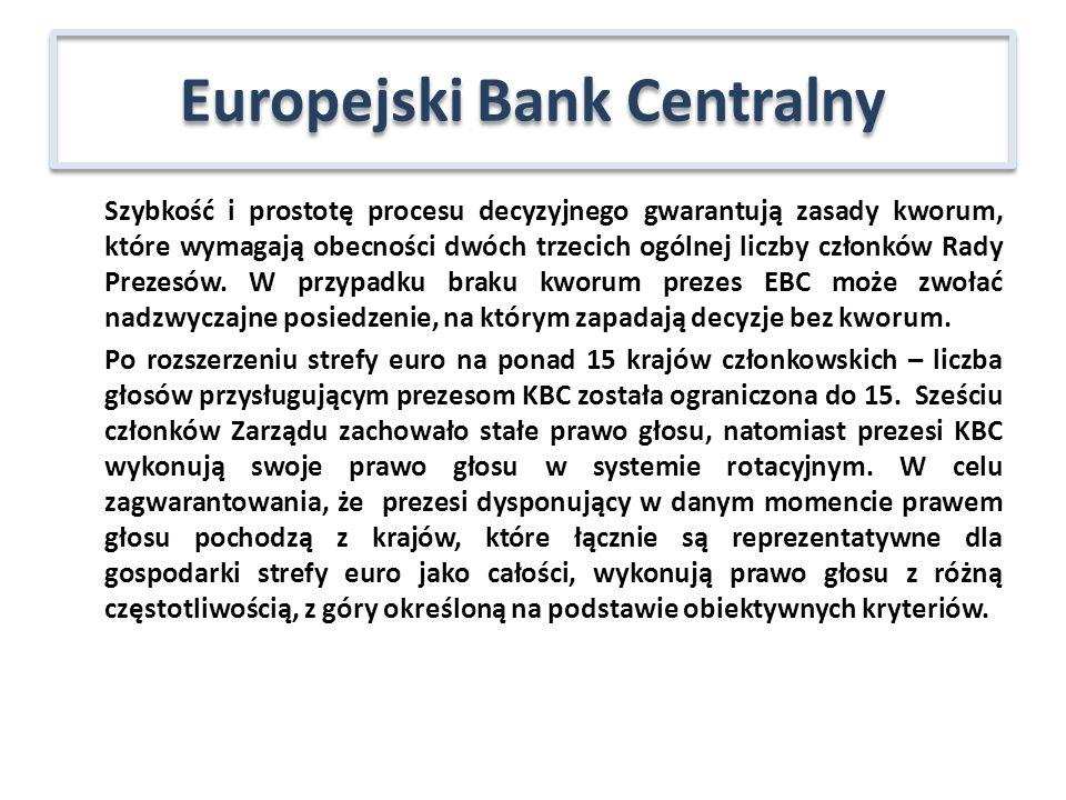 uczestniczy w działaniach związanych z pełnieniem przez EBC funkcji doradczych oraz gromadzeniem informacji statystycznych; opiniuje zmiany zasad rachunkowości i sprawozdawczości finansowej, określenie klucza subskrypcji kapitału EBC oraz warunki zatrudnienia pracowników EBC.