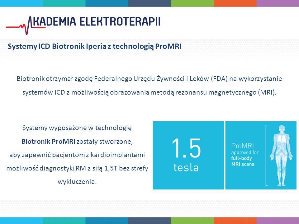 Biotronik otrzymał zgodę Federalnego Urzędu Żywności i Leków (FDA) na wykorzystanie systemów ICD z możliwością obrazowania metodą rezonansu magnetycznego (MRI).