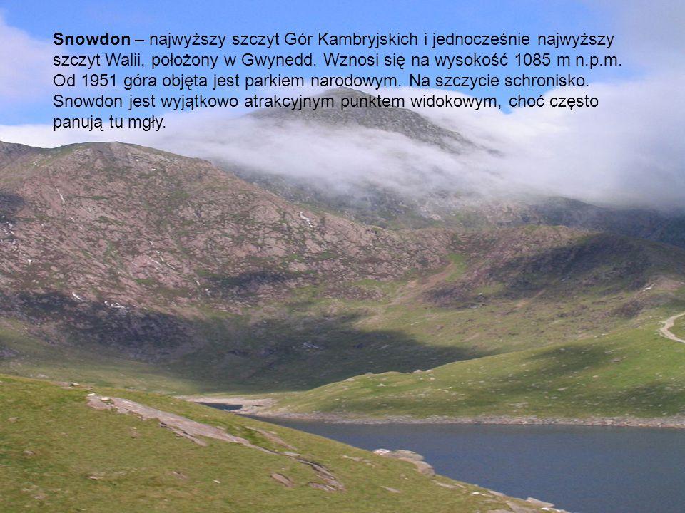 Snowdon – najwyższy szczyt Gór Kambryjskich i jednocześnie najwyższy szczyt Walii, położony w Gwynedd. Wznosi się na wysokość 1085 m n.p.m. Od 1951 gó