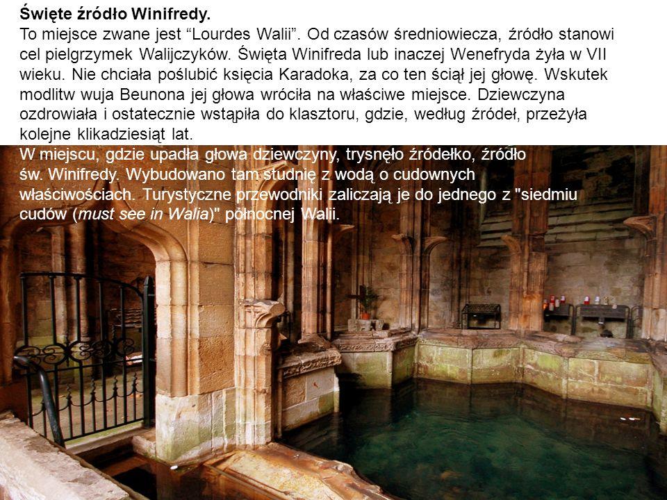 """Święte źródło Winifredy. To miejsce zwane jest """"Lourdes Walii"""". Od czasów średniowiecza, źródło stanowi cel pielgrzymek Walijczyków. Święta Winifreda"""