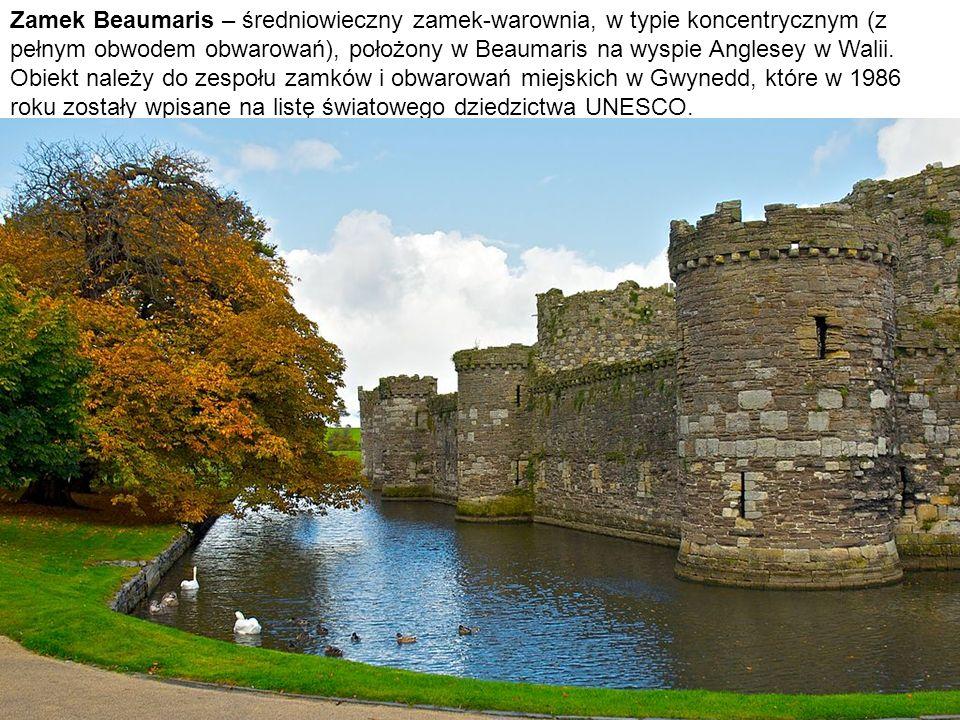 Zamek Beaumaris – średniowieczny zamek-warownia, w typie koncentrycznym (z pełnym obwodem obwarowań), położony w Beaumaris na wyspie Anglesey w Walii.