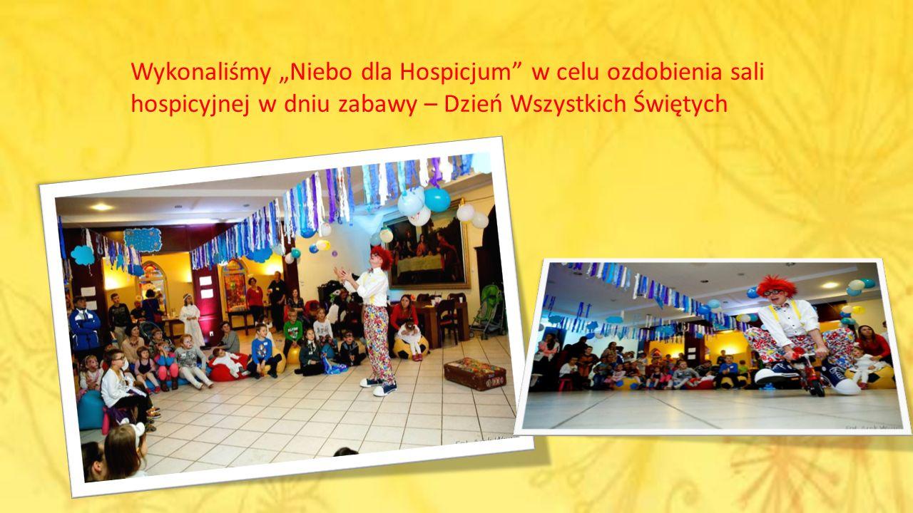 """Wykonaliśmy """"Niebo dla Hospicjum w celu ozdobienia sali hospicyjnej w dniu zabawy – Dzień Wszystkich Świętych"""