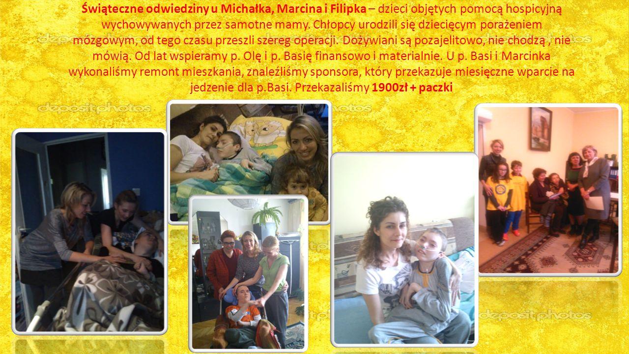 Świąteczne odwiedziny u Michałka, Marcina i Filipka – dzieci objętych pomocą hospicyjną wychowywanych przez samotne mamy.