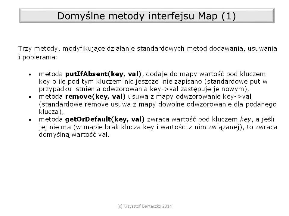 (c) Krzysztof Barteczko 2014 Domyślne metody interfejsu Map (1)