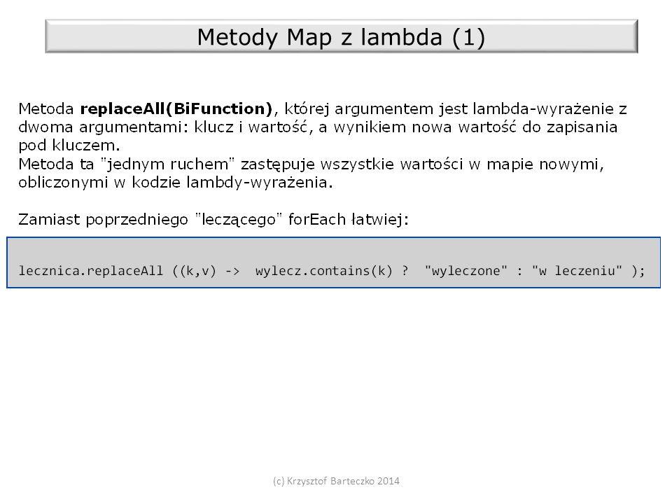 (c) Krzysztof Barteczko 2014 Metody Map z lambda (1)