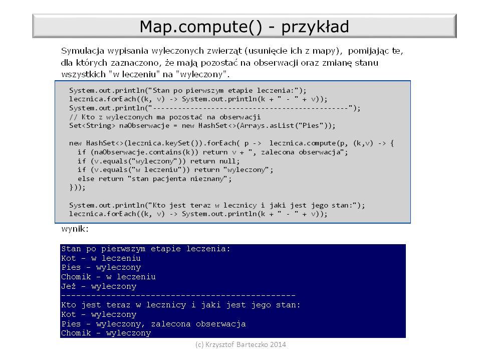 (c) Krzysztof Barteczko 2014 Map.compute() - przykład