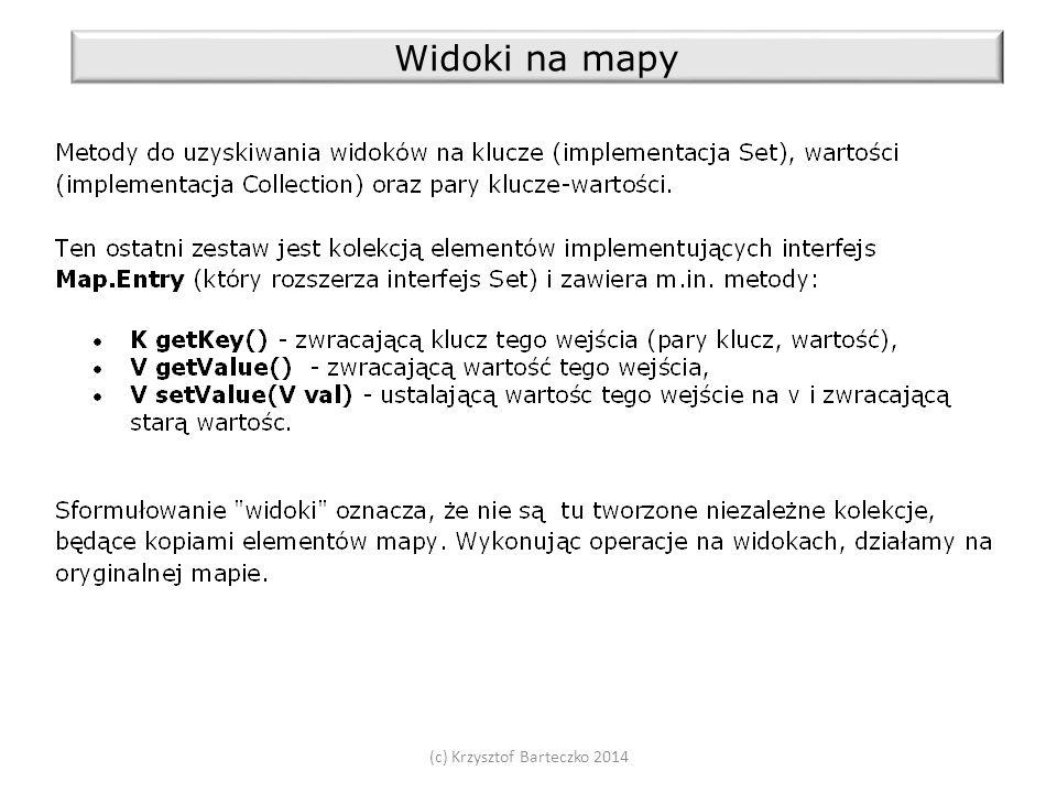 (c) Krzysztof Barteczko 2014 Widoki na mapy