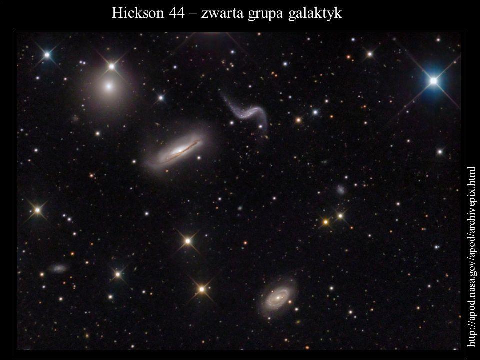 Hickson 44 – zwarta grupa galaktyk http://apod.nasa.gov/apod/archivepix.html Andrzej Kulka