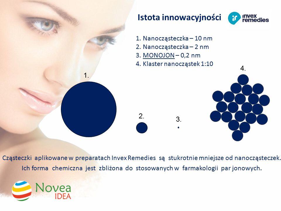 Istota innowacyjności 1. Nanocząsteczka – 10 nm 2.