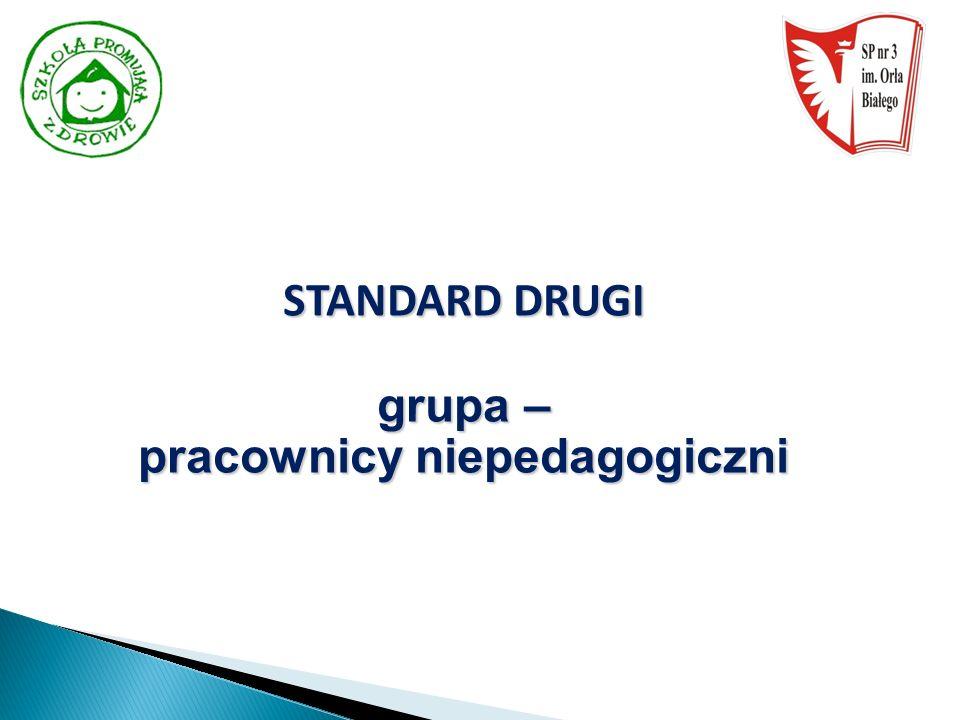 STANDARD DRUGI grupa – pracownicy niepedagogiczni