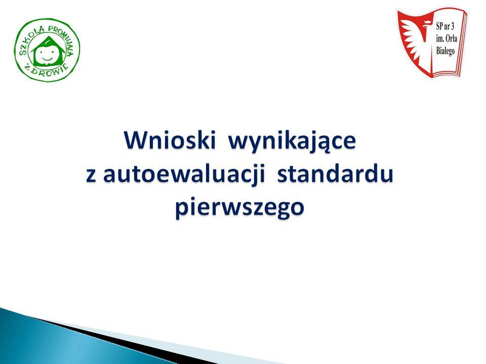 Wnioski wynikające z autoewaluacji standardu pierwszego