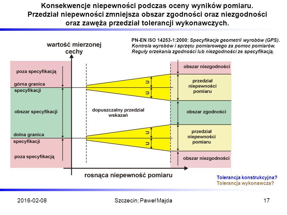 2016-02-08Szczecin; Paweł Majda17 Konsekwencje niepewności podczas oceny wyników pomiaru.