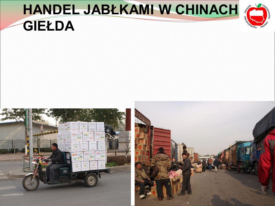 HANDEL JABŁKAMI W CHINACH- GIEŁDA