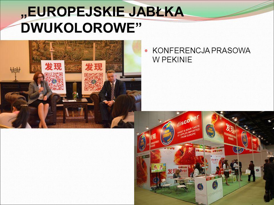 """""""EUROPEJSKIE JABŁKA DWUKOLOROWE KONFERENCJA PRASOWA W PEKINIE"""
