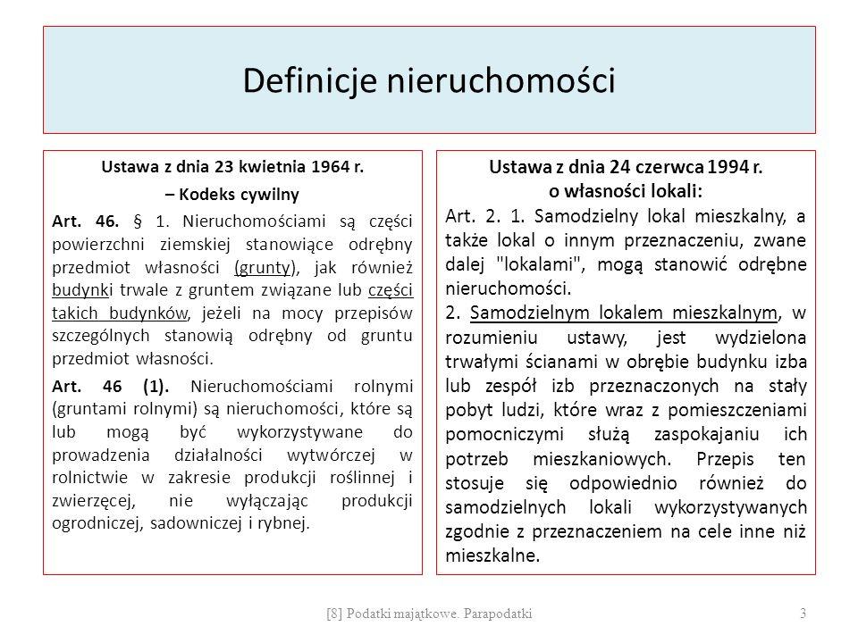 Definicje nieruchomości Ustawa z dnia 23 kwietnia 1964 r.