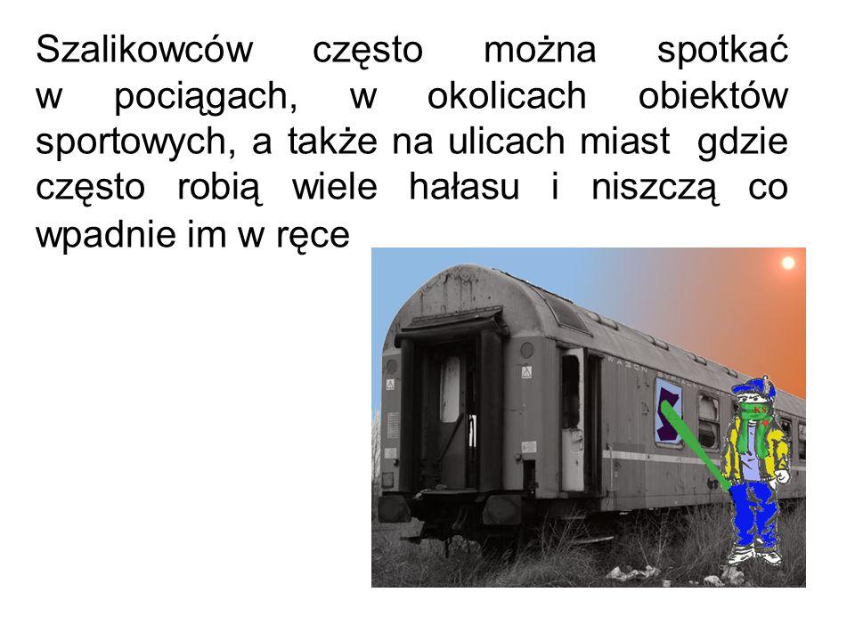 Szalikowców często można spotkać w pociągach, w okolicach obiektów sportowych, a także na ulicach miast gdzie często robią wiele hałasu i niszczą co w