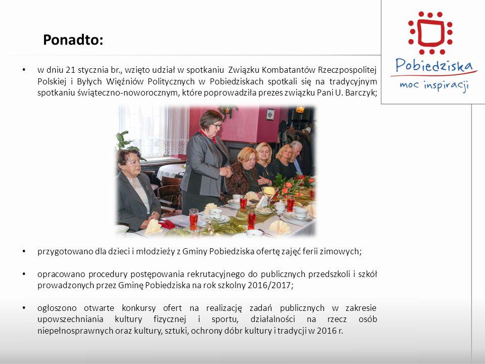 w dniu 21 stycznia br., wzięto udział w spotkaniu Związku Kombatantów Rzeczpospolitej Polskiej i Byłych Więźniów Politycznych w Pobiedziskach spotkali