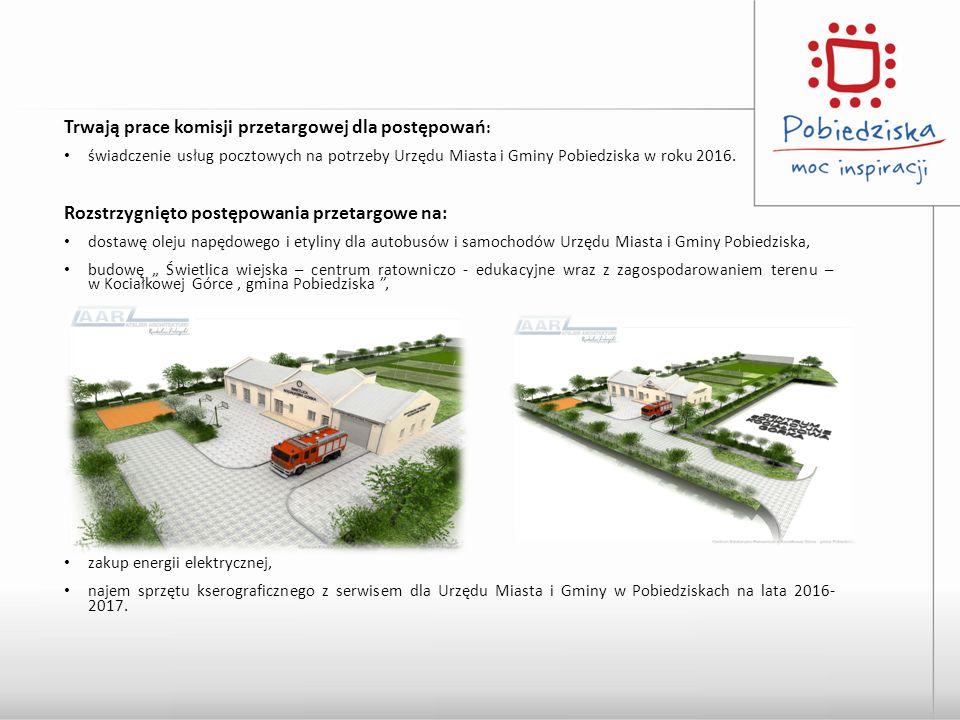 Trwają prace komisji przetargowej dla postępowań : świadczenie usług pocztowych na potrzeby Urzędu Miasta i Gminy Pobiedziska w roku 2016.