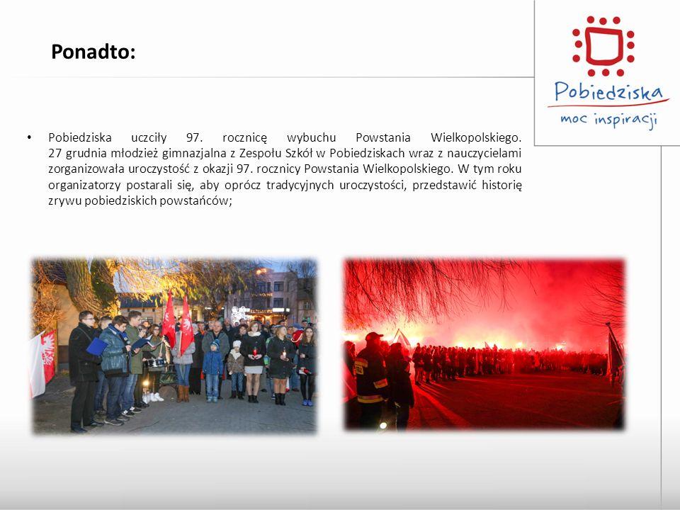 Pobiedziska uczciły 97. rocznicę wybuchu Powstania Wielkopolskiego. 27 grudnia młodzież gimnazjalna z Zespołu Szkół w Pobiedziskach wraz z nauczyciela