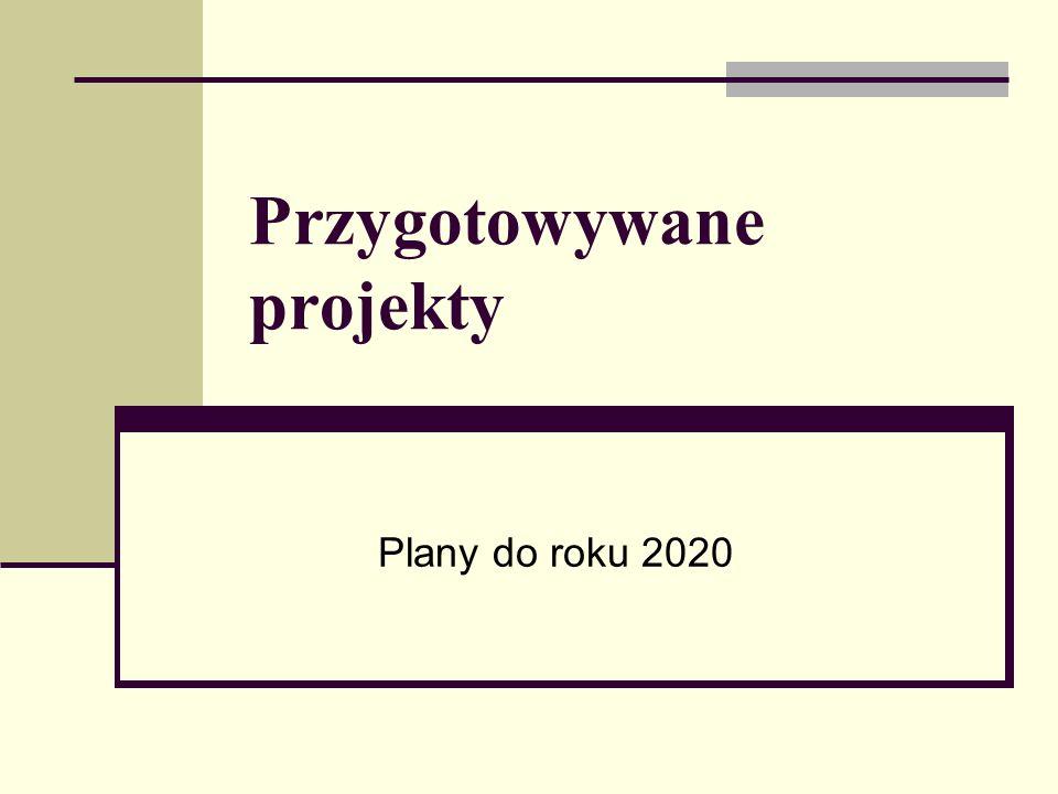 Przygotowywane projekty Plany do roku 2020