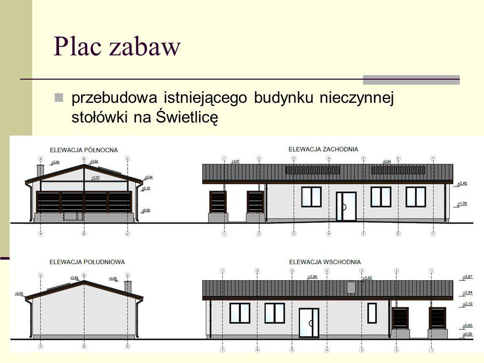 przebudowa istniejącego budynku nieczynnej stołówki na Świetlicę