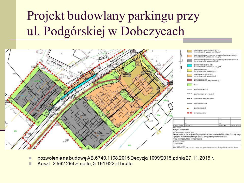 Projekt budowlany parkingu przy ul.