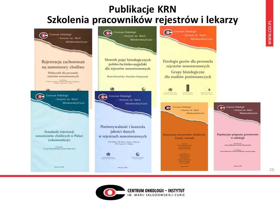 Publikacje KRN Szkolenia pracowników rejestrów i lekarzy 26
