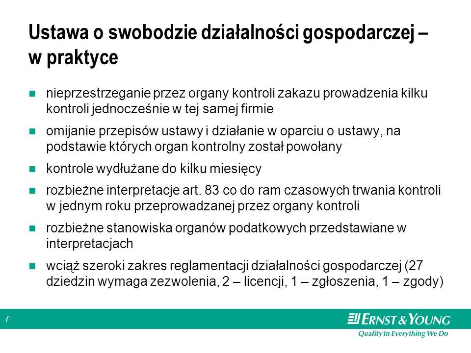 7 Ustawa o swobodzie działalności gospodarczej – w praktyce nieprzestrzeganie przez organy kontroli zakazu prowadzenia kilku kontroli jednocześnie w t