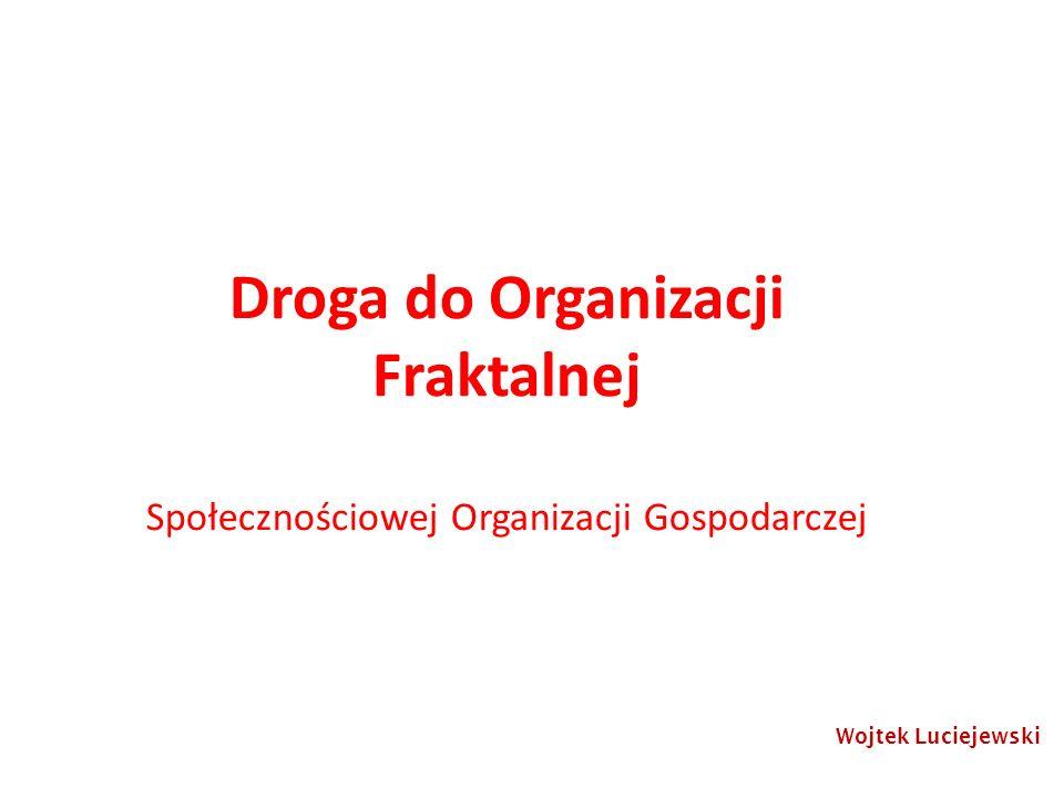 Droga do Organizacji Fraktalnej Społecznościowej Organizacji Gospodarczej Wojtek Luciejewski
