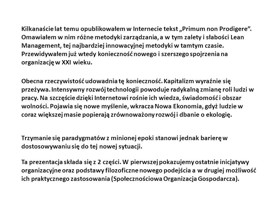 Słabości Holonic Management
