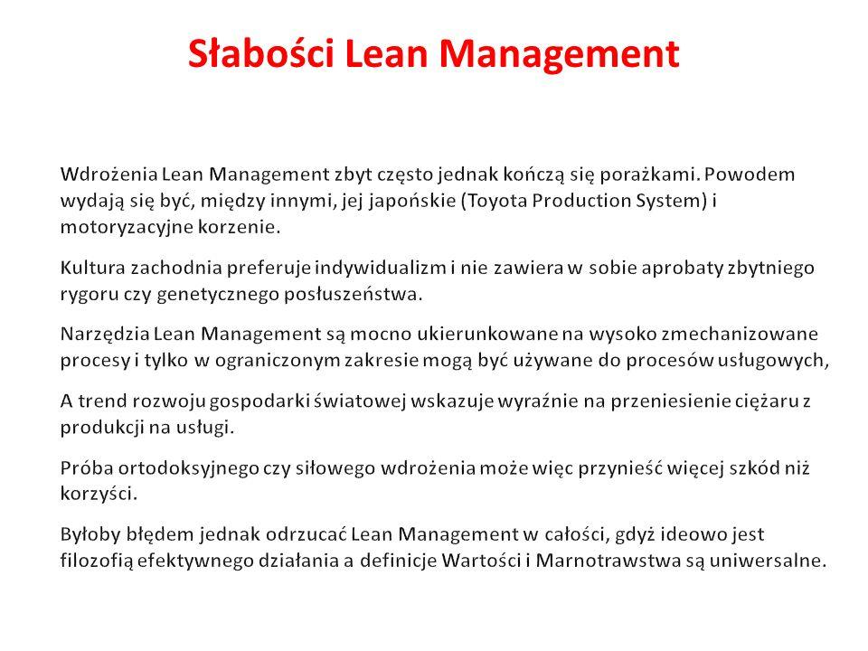 Słabości Lean Management