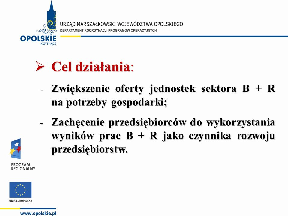 Kryteria merytoryczne II stopnia (punktowane) dla poddziałania 1.3.1 Wsparcie sektora B + R oraz innowacji na rzecz przedsiębiorstw