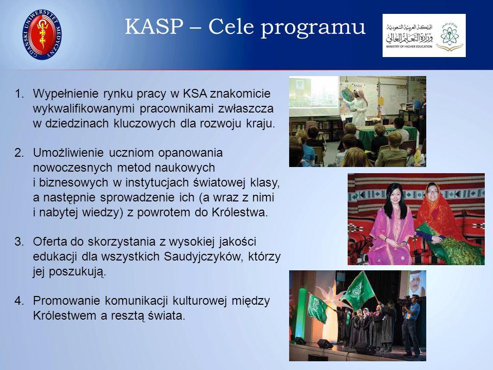 Lokalizacja europejskich Biur Kulturalnych ( Saudi Arabian Cultural Bureau – SACB) obsługujących KASP KASP – Przedstawicielstwa SACB